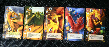 A hand of Storm Dragons cards